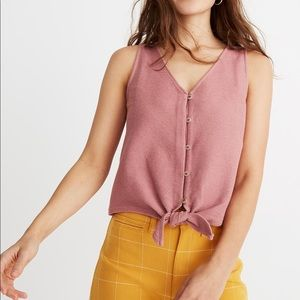 {Madewell} Texture & Thread Tie Front Tank
